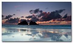 Holywell sunset - Explore #184  19/03/12 (Simon Bone Photography) Tags: sea sky cloud sun reflection beach silhouette sand cornwall cornishcoast canon1740mmlf4 cornishsunsets wwwthehidawaycouk canoneos7d hitechnd09reversegrad