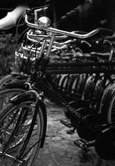 Csepelek Zorkijjal (.e.e.e.) Tags: city blackandwhite bw film bicycle analog hungary rangefinder mf analogue manualfocus rf pécs filmscan agfaapx100 leicacopy sovietcamera zorki1c19511953typec3 industar223550 epsonv350photoscanner pulliso100to50 reanalrnd76developer11