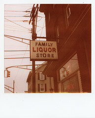 Family Liquor Store (Rajstrut) Tags: signs polaroid newjersey liquor phillipsburg polaroid680slr expired600polaroidfilm