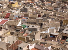 Rooftops (ExeDave) Tags: urban espaa holiday building architecture geotagged town spain mediterranean rooftops espana tiles april townscape med castlehill iberia tiled mula mercia 2011 murciaprovince elcastillodelosvlez p4159068 geo:lat=38043501606687016 geo:lon=149094457043077 pantileslandscape