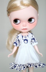 (Aya_27) Tags: white black cute bigeyes beige doll sweet handmade sewing navy mama chips handpainted lad handsewn mywork blythe sailor lovely custom nicky ruffle dollie scalp freackles inhand ovely dressbyme matryoshkamaiden nickylad chaoskatenkosmos
