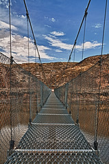 Rosedale Suspension Bridge (Keeperofthezoo) Tags: bridge canada suspension ab alberta badlands suspensionbridge rosedale canonxsi starminesupsensionbridge