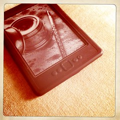 My Kindle always here, next to the bed (Simone Lovati) Tags: noflash hipstamatic inas1969film kaimalmarkiilens