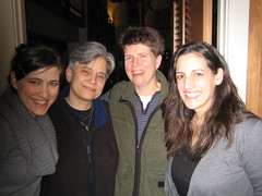 Visit with friends Nancy and Marjorie after Prairie Home Companion show in Seattle