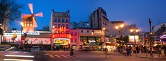 Moulin Rouge (the underlord) Tags: panorama paris evening montmartre blended moulinrouge stitched twoimages mergedimage nonhdr