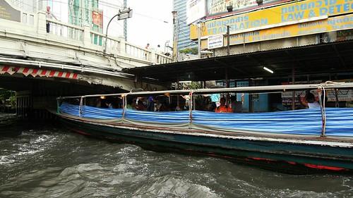 thailand boats pier bangkok express nam 2012 saen khlong saep pratu
