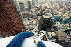 Almost (I'll Make Ya) Famous (tomms) Tags: city urban toronto skyline shoes downtown vertigo core rooftopping