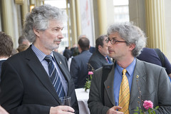 Delegates chat at the Presidency Reception in Leipzig