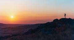 The Silent Watcher ~ Explored (intrazome) Tags: sunset wild sun film nature weather 35mm landscape nikon solitude peace peaceful f80 bodminmoor bodmin fujisuperia400 filmphotography shootingonfilm