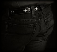 Jeans (Chains of Pace) Tags: blackandwhite oklahoma cowboy leeds wranglers s jeans western panhandle