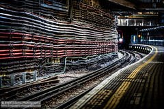 Live Wires (Fred-Adams) Tags: signs london train underground lights iron track transport pipes tube pillar platform railway trains cables bakerstreet signal piping traintrack metropolitan overground cabling tfl bakerst electriccables