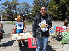 World Book Night Volunteer Group Book Giver Catherine Carroll with Book Recipient @ Chabot College - April 23, 2013 - Hayward, California - 082 (Hayward Public Library) Tags: california reading libraries books literacy thelanguageofflowers cityofhayward 94541 haywardpubliclibrary vanessadiffenbaugh worldbooknight2013