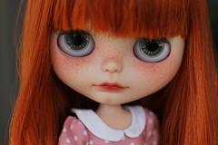 Anas (andreeamariuka) Tags: cute carving redhead blythe freckles custom hybrid sbl scalp rbl vsmash faceup mariuka simplyguava