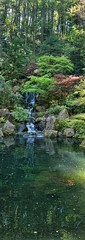 Vertical panorama of the Portland Japanese Garden (1) (mharrsch) Tags: panorama plants pool oregon garden portland landscape japanese portlandjapanesegarden mharrsch