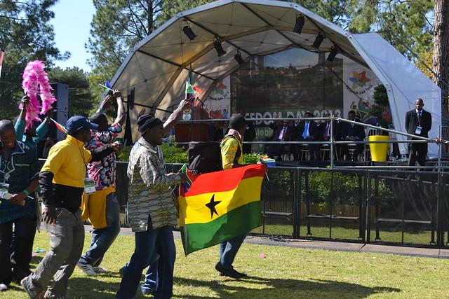 A celebratory parade at the festival