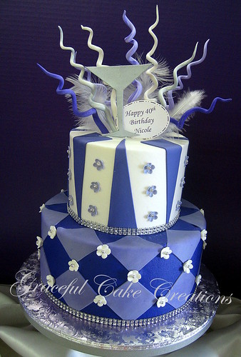 Magnificent Whimsical Purple White And Silver Birthday Cake A Photo On Personalised Birthday Cards Arneslily Jamesorg