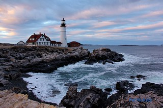 Portland Headlight at sunset - Maine