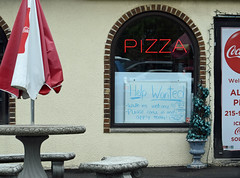 Pizza Help (MTSOfan) Tags: window sign work employment labor pizza economy helpwanted pizzashop