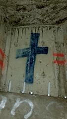 Underground Religion (800Spiders) Tags: urban vancouver dark concrete religious island graffiti candles candle bc religion pipe columbia victoria drain british douglas exploration drainpipe ue urbex darkie draining