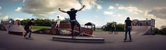 Skate shoot. (Adam Hopkins) Tags: park light panorama photoshop photography daylight nikon day natural skateboarding creative naturallight skatepark skate lightroom highshutterspeed nikond7000 photoshopcs6 creativecloud