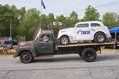 Donovan Stott bringing in his Anglia gasser in style (Thumpr455) Tags: auto chevrolet car sport truck nikon automobile rusty voiture chevy ag april autoracing dragracing whitetrash gasser d800 anglia flatbed greer 2016 southcarolin worldcars afnikkor3570mmf28d advancedesign greerdragway donovanstott southeastgassers