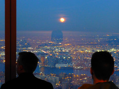 New York, NY Views from the One World Observatory (army.arch) Tags: nyc newyorkcity moon ny newyork observation evening deck 1worldtradecenter oneworldtradecenter oneworldobservatory