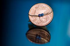 Smaller Than A Coin (DanielPace) Tags: macro coin nikon than resistor smaller hmm 1c d5500 macromondays smallerthanacoin