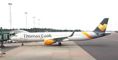 OY-TCG GOT on stand 250516 (kitmasterbloke) Tags: sweden outdoor aircraft aviation gothenburg got goteborg landvetter