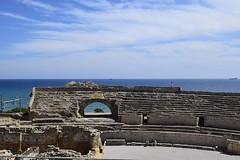Amfiteatre (nuriamasip) Tags: sea landscape mar catalonia views catalunya vistas amphitheater cultura tarragona romans anfiteatro ruines romnico romnic amfiteatre romanes