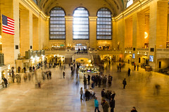 Grand Central (joshsmith1231) Tags: travel winter light people usa newyork motion blur america train hall long exposure central grand grandcentral