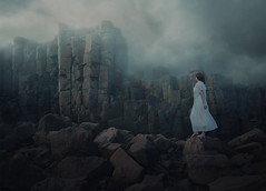 A journey into a forsaken world (Deltalex.) Tags: portrait cliff woman selfportrait storm beach girl clouds dark rocks fineart australia mysterious newsouthwales conceptual fineartphotography conceptualphotography tallrocks deltalex alexbenetel