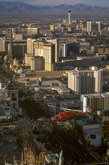Over The Strip, Las Vegas, NV (arbabi) Tags: city sunset vacation usa tourism america lasvegas nevada flight thestrip mgmgrand sincity lasvegasboulevard helicoptertour uswest clarkcounty parisresortandcasino stratospherecasinohoteltower