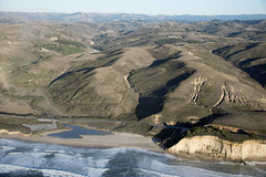 Aerial view of Pomponio Beach and Highway 1, San Mateo County, California (cocoi_m) Tags: california nature aerial highway1 pacificocean geology geomorphology aerialphotograph sanmateocounty pomponiostatebeach