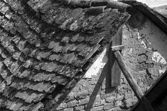 hajlk (.e.e.e.) Tags: zorki roof shadow blackandwhite bw building film wall architecture analog tile moss top rustic rangefinder analogue manualfocus rf filmscan yellowfilter agfaapx100 pise strutter m39 calk sovietcamera agfaphoto villnykvesd zorkij zorkij4 villnywineregion fenofortdeveloper epsonv350photoscanner jupiter11lens4135