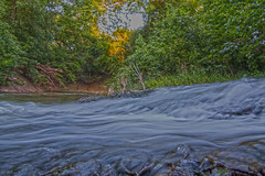 Water Flowing Into Waxahachie Creek (Stephen J Pollard (Loud Music Lover of Nature)) Tags: water creek agua arroyo flowingwater waxahachiecreek