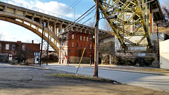 Under two bridges (real00) Tags: city urban landscape pittsburgh pennsylvania urbanlandscape westernpennsylvania 2000s 2016 alleghenycounty 2010s pittsburghregion willreal williamreal