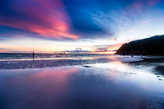 S U R F (migo_santos) Tags: blue sunset sea seascape beach canon landscape sand rocks bamboo hour boracay ultrawide hue hdr uwa seascap 760d