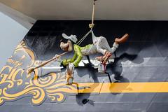 "Disney Magic Goofy paints The Ships name ""Disney Magic"" (grahamkinnear) Tags: cruise liverpool mouse pier nikon ship head magic disney mickey pluto d3100"