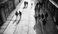 Two Way Traffic (4foot2) Tags: twowaytreffic gunwhafequays portsmouth shop shopping down lookingdown streetphoto streetshot street streetphotography reportage reportagephotography people peoplewatching interestingpeople shadow shadows analogue film filmphotography 35mmfilm 35mm 35mmf35 35mmf35summaron summaron leica leica111 1932 1932leica rangefinder bw blackandwhite monochrome mono kodak kodaktrix trix diafine 1200iso 1200asa 2016 fourfoottwo 4foot2flickr 4foot2photostream 4foot2