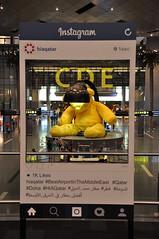 #BestAirportInTheMiddleEast (A380spotter) Tags: frame instagram hiqatar bestairportinthemiddleeast qatar doha hiaqatar ursfischer untitledlampbear 2011 giantteddybear lamp yellow sculpture installation contemporary art artwork airside dutyfreeplazasouth terminal1 one مطارحمدالدولي hamadinternationalairport hia othh doh الدوحة قطر دولةقطر dawlatqaṭar stateofqatar