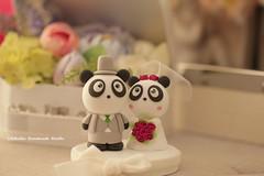 Panda wedding cake topper (charles fukuyama) Tags: wedding cute redrose weddingceremony brideandgroom  cakedecoration bridalbouquet weddingcaketopper  handmadecaketopper animalscaketopper pandacaketopper kikuike