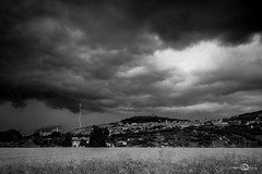 Assisi (--marcello--) Tags: longexposure blackandwhite italy storm clouds thunderstorm lightning assisi umbria temporale thunderbolt fulmine