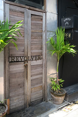 Unassuming Doorway (Androided) Tags: bali coffee canon indonesia hipster sigma sanur seminyak 2016 revolvercafe canoneos5dmarkii sigma35mm14