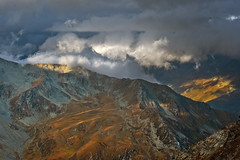 Mountain and clouds. Taken from the Cabane of Valsorey. No. 3587. (Izakigur) Tags: topf25 liberty switzerland coldplay topf300 nikkor wallis ch valais musictomyeyes romandie fixyou myswitzerland lasuisse nikond700 nikkor2470f28 izakigur laventuresuisse