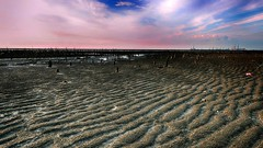 Sand grain Sunset viewChanghua, Taiwan (rightway20150101) Tags:   sunset changhua taiwan sand grain seaside  pink