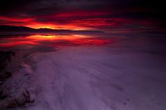 Morning Surprise_DSC0874 (antelope reflection) Tags: winter lake reflection ice water colors sunrise utah antelopeisland greatsaltlake utahstatepark nikond90