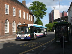 First PMT 65040 Scania Omnicity YN06 WMO (simon_n17) Tags: scania 65040 firstcrosville yn06wmo