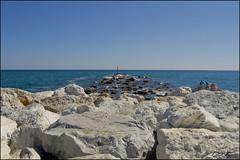 Paz (Duli Tapia Fotografa) Tags: sea espaa beach faro mar spain playa andalucia rocas fuengirola mlaga