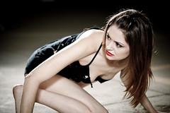 Danger (nathansmithphoto) Tags: woman girl dark concrete model alone skin garage angry vulnerable joyanna