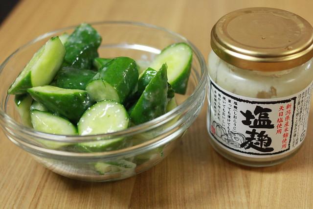 塩麹+キュウリ